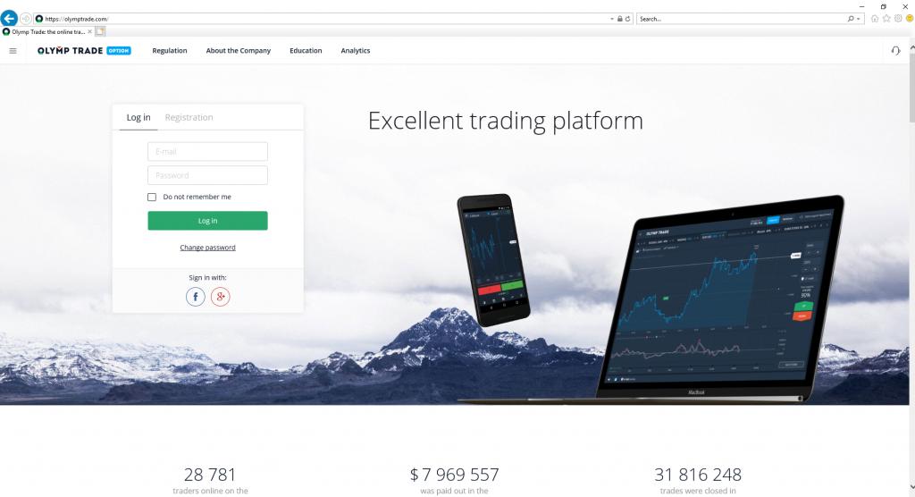 olymp trade เข้าระบบ IE